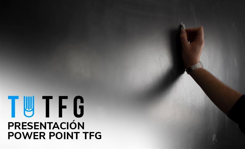 Presentación power point tfg