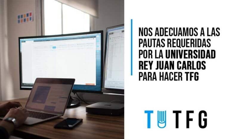 Nos adecuamos al formato de redacción requerido por la URJC para hacer tu Trabajo Fin de Grado